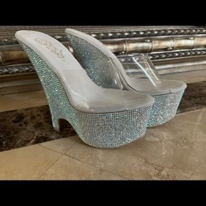Bejeweled Pleaser Wedges Size 7